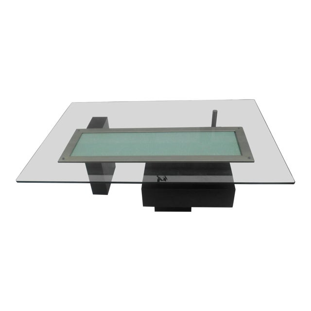 Contemporary Abstract Cityscape Style Coffee Table For Sale