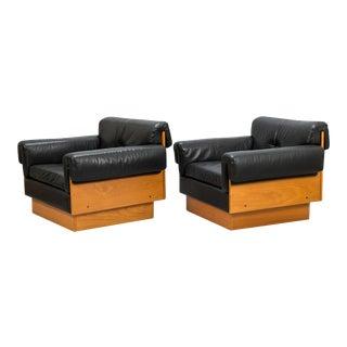 Kurt Hvitsjö 'Zorbas' Lounge Chairs in Teak - A Pair For Sale