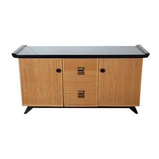 1940s Mid-Century Modern Paul Frankl for Brown and Saltman Combed Wood Sideboard For Sale