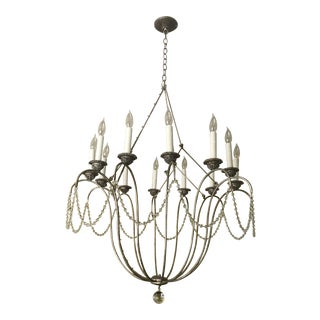 Contemporary Niermann Weeks Italian Crystal Chandelier For Sale