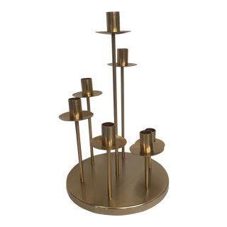 Brass Color Centerpiece Candle Holder