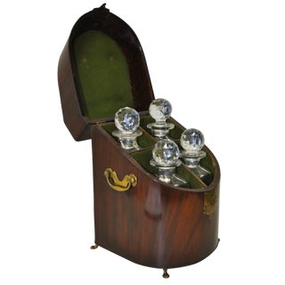 Exceptional 18th Century Rosewood Cased Decanter Set