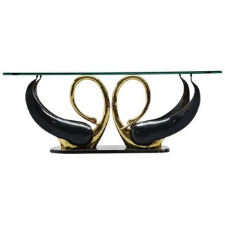 Maison Jansen Attributed Swan Shape Coffee Table For Sale