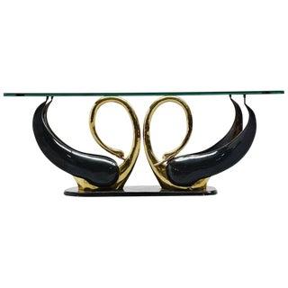 Maison Jansen Attributed Swan Shape Coffee Table