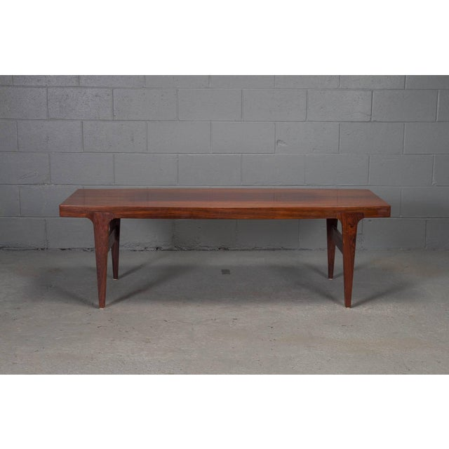 Mid-Century Danish Modern Rosewood Coffee Table For Sale - Image 10 of 10