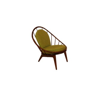 Mid Century Danish Hoop Style Chair With Spindle Back Ib Kofod-Larsen for Selig For Sale