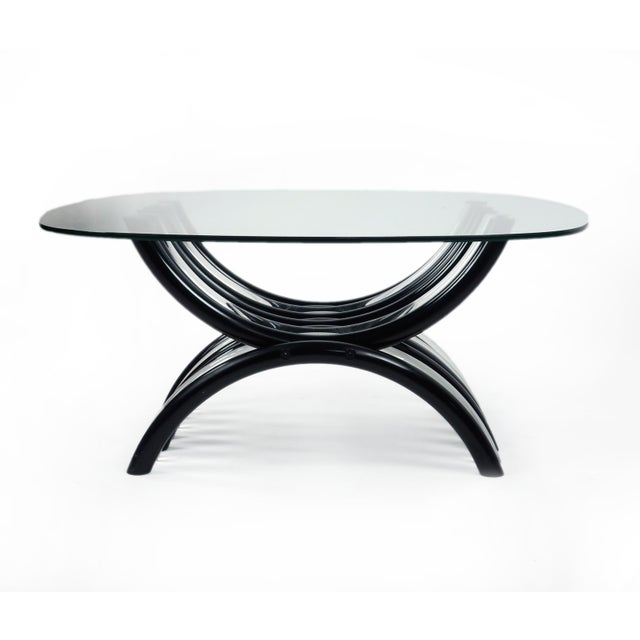 4756e338e726 Mid-Century Modern Mid-Century Modern Black   Clear Lucite Coffee Table For  Sale