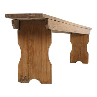 Antique Pine Farm Table Bench For Sale
