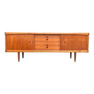 1960s Danish Modern h.w. Klein for Bramin Teak Credenza For Sale