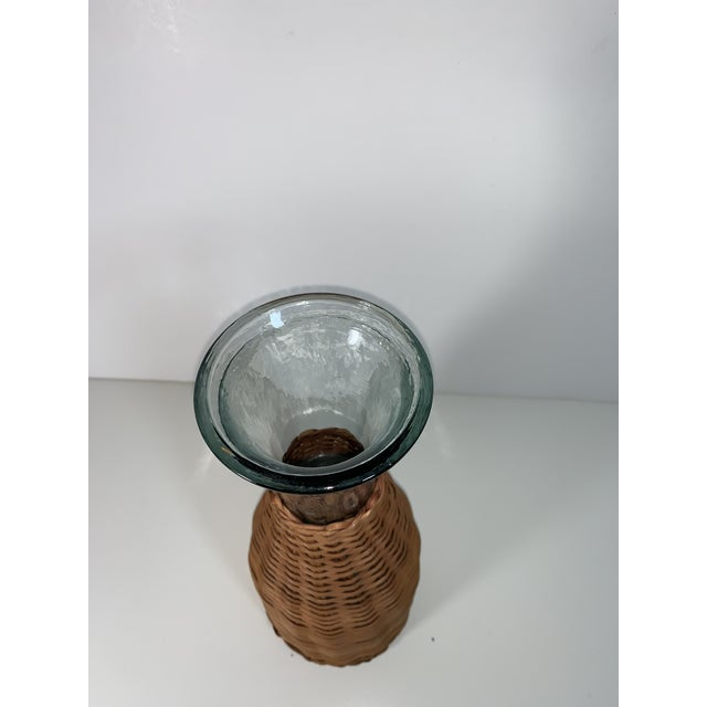 1970s Wicker Wrapped Decanter For Sale - Image 4 of 9