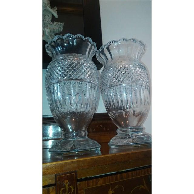 Far below wholesale price. Antique Mamouth Artisan Irish Crystal Vases. Breathtaking cut crystal. Rare antique art...