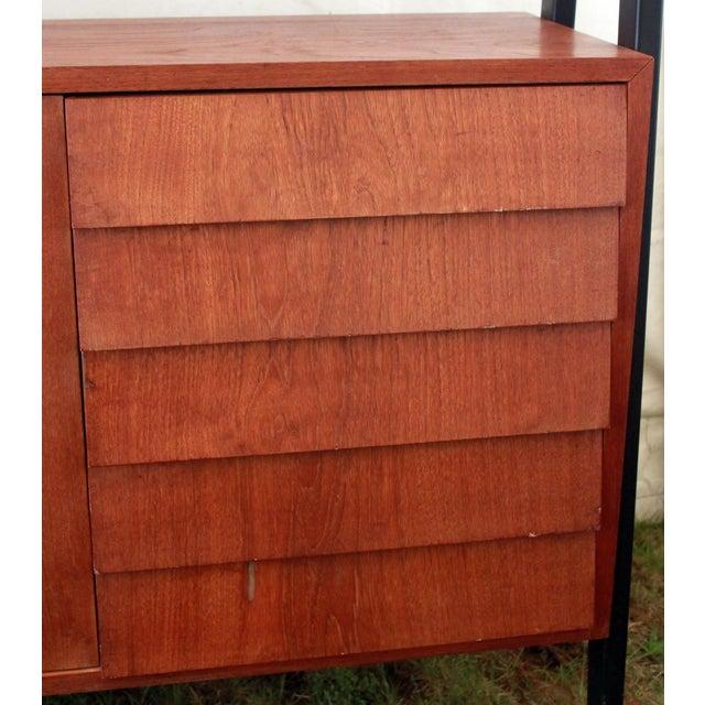 1950's Danish Modern Teak Etagere Cabinets - Pair - Image 7 of 11