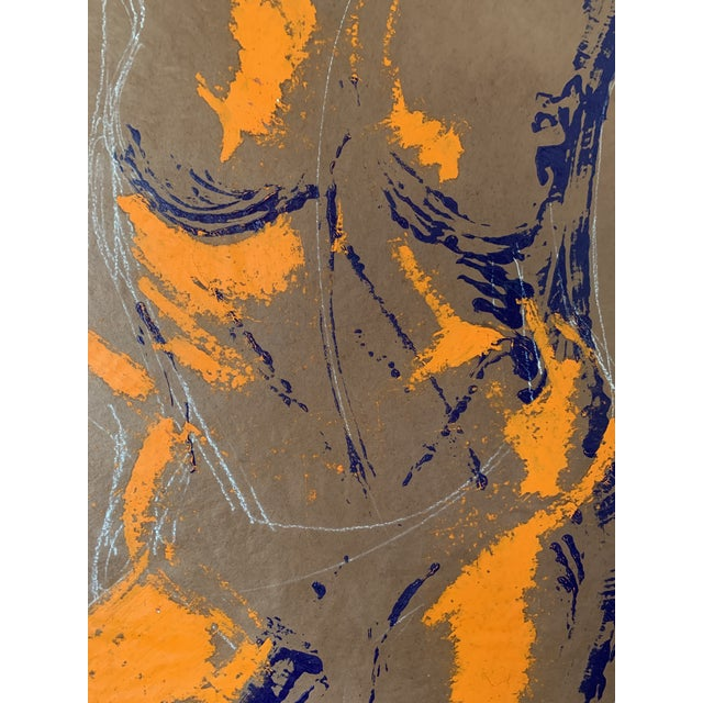 Abstract Greg Lauren Contemporary Painting For Sale - Image 3 of 5