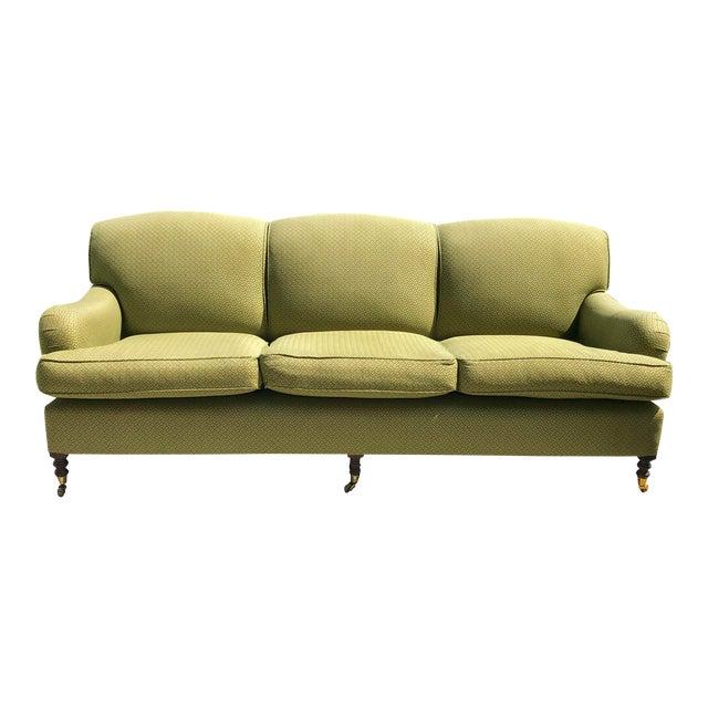 Modern George Smith Standard Roll Arm Sofa For Sale