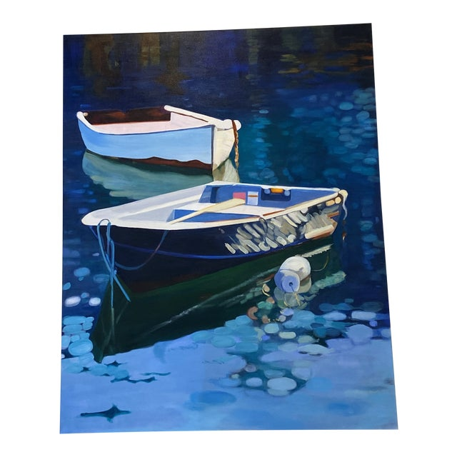 Contemporary Nautical Oil Painting by Andrea Guay For Sale