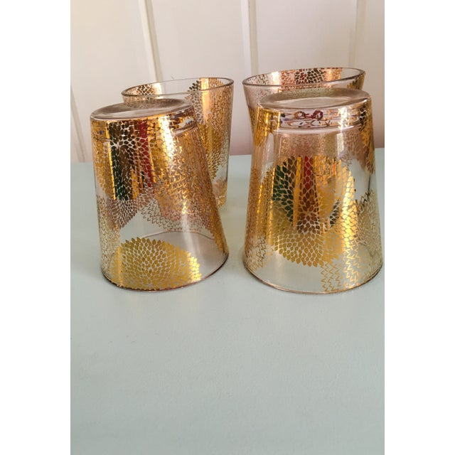 Gold Chrysanthemum Glasses - Set of 4 - Image 7 of 8