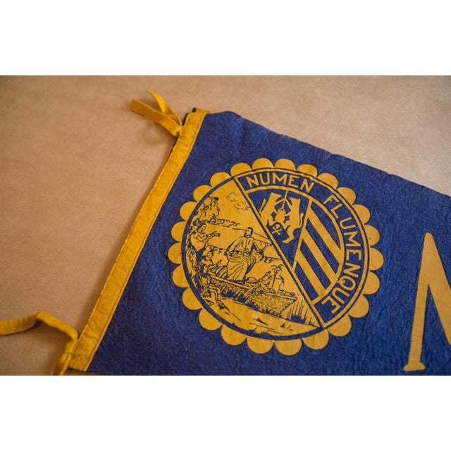 :: Marquette University felt flag banner, located in Milwaukee, Wyoming. Great coloration with this classic design,...
