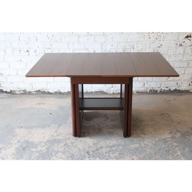 Wood Large Edward Wormley for Dunbar Mahogany Extension Dining Table For Sale - Image 7 of 13