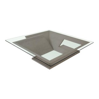 Nautilus Square Coffee Table, Grey For Sale
