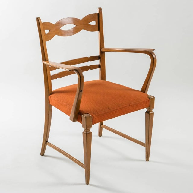 Armchair by Paolo Buffa by Marelli - Image 3 of 10