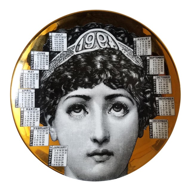 Barnaba Fornasetti Calendar Plate for 1994 - Image 1 of 6