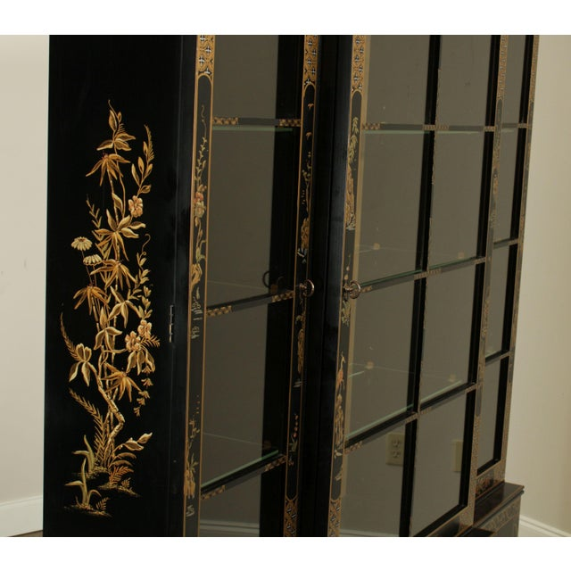 Drexel Heritage Et Cetera Black & Gold Asian Chinoiserie Breakfront For Sale - Image 11 of 13