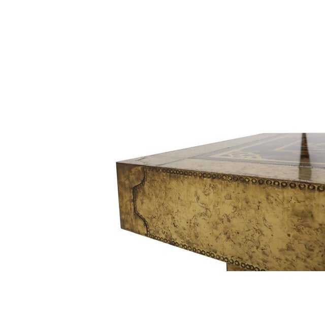 Green Bernhard Rohne Coffee Table for Mastercraft For Sale - Image 8 of 9