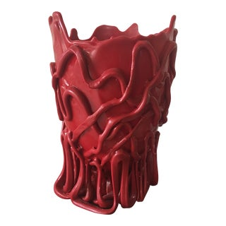 Red Gaetano Pesce Vase For Sale