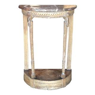 Louis XVI Style Demilune Table For Sale