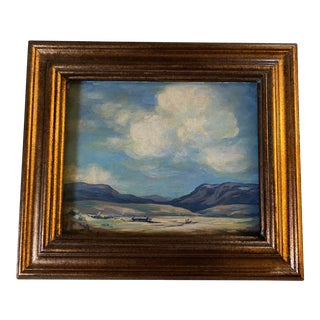 1990s Landscape Oil Painting, Signed For Sale