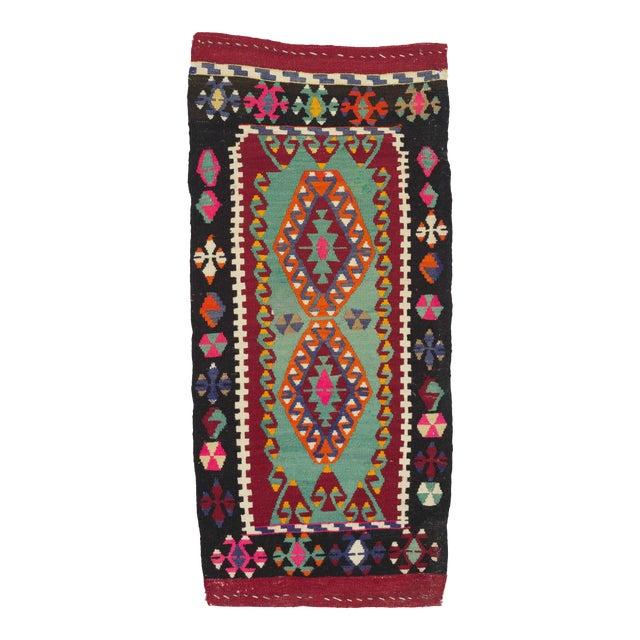 Vintage Mini Kilim Rug - 1′8″ × 3′8″ For Sale