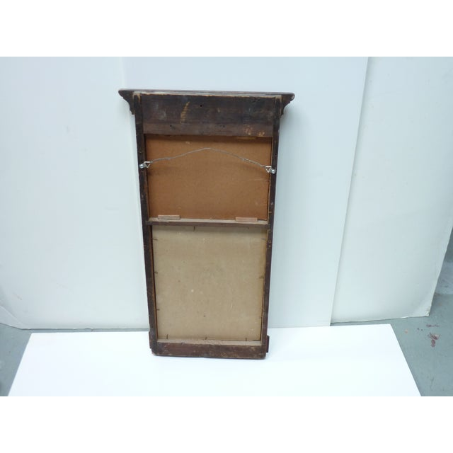 Late 19th Century 19th Century Early American Wall Mirror with Eglomise Panel For Sale - Image 5 of 6