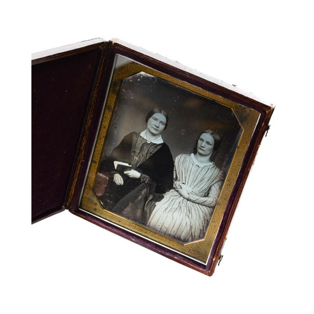 Antique 1/2 Plate Daguerreotype Portrait Sisters - Image 2 of 4
