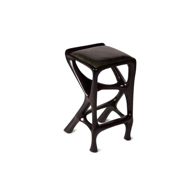 Amorph Chimera Bar Stool, Stained Ebony For Sale In Los Angeles - Image 6 of 8