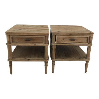 Primitive Style Farmhouse Side Tables- a Pair