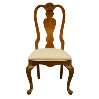 Late 20th Century Vintage Stanley Furniture Country French Oak Dining Side Chair For Sale