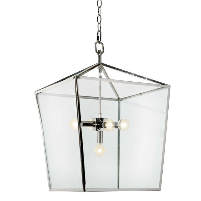 Camden Lantern in Polished Nickel For Sale - Image 9 of 9