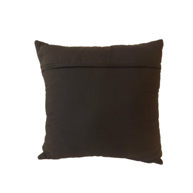 Cotton African Kuba Textile Pillow For Sale - Image 7 of 7