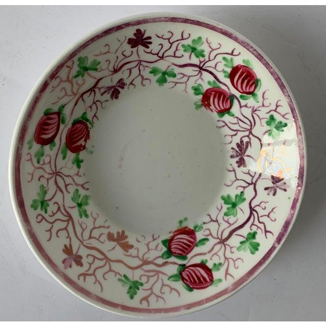 Antique English Lustreware Berry Motif Trinket Dish For Sale - Image 4 of 10