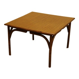Vintage Square Rattan Coffee Table For Sale