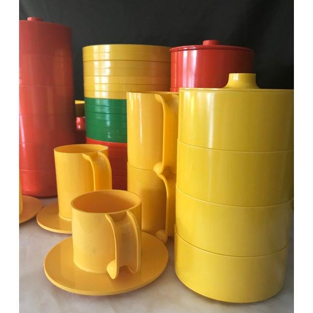 Orange Italian Massimo Vignelli for Heller Melamine Multi-Colors Dinnerware Set - 83 Pieces For Sale - Image 8 of 13