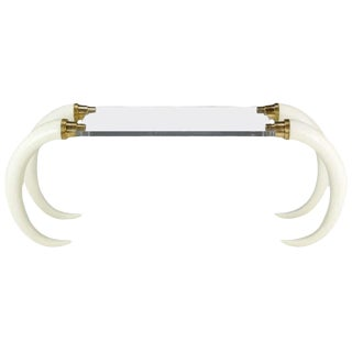 Elephant Tusk Console Table By Suzanne Dahl & Jerry Barich For Sale