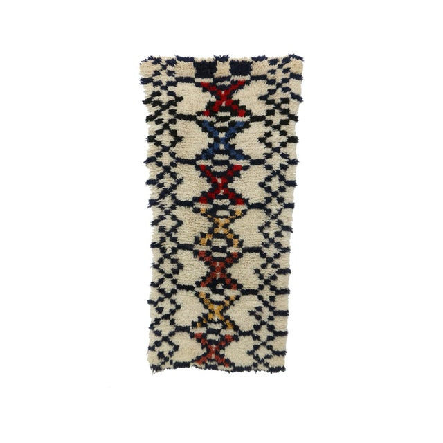 1980s Azilal Moroccan Rug - 3′ × 6′3″ For Sale - Image 6 of 6