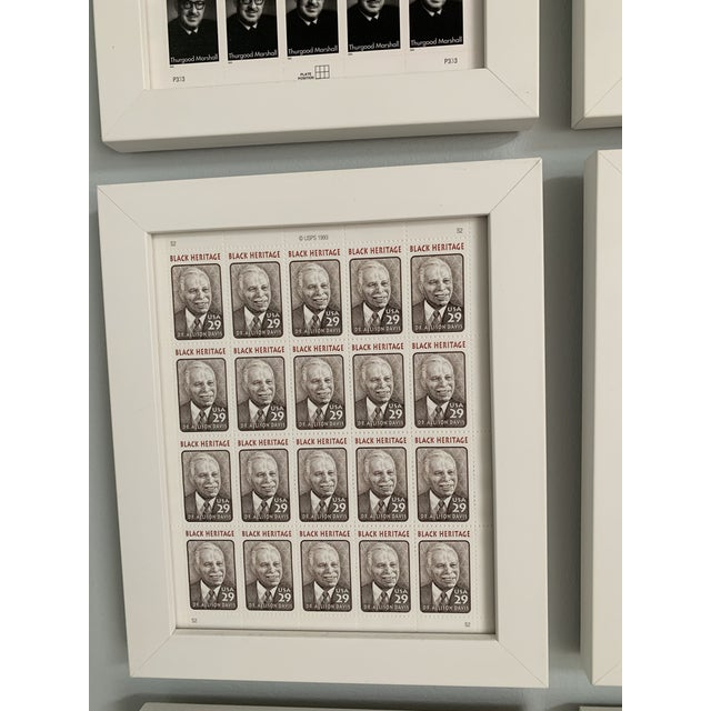 Late 20th Century Late 20th Century Black Heritage Month Framed Stamp Collection - 6 Pieces For Sale - Image 5 of 8