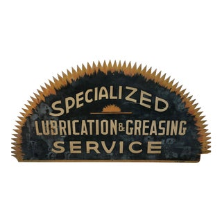 Vintage 'Specialized Lubrication & Greasing Service' Automotive Sign