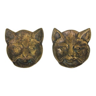 Brass Fox Catchall or Ashtray - a Pair For Sale