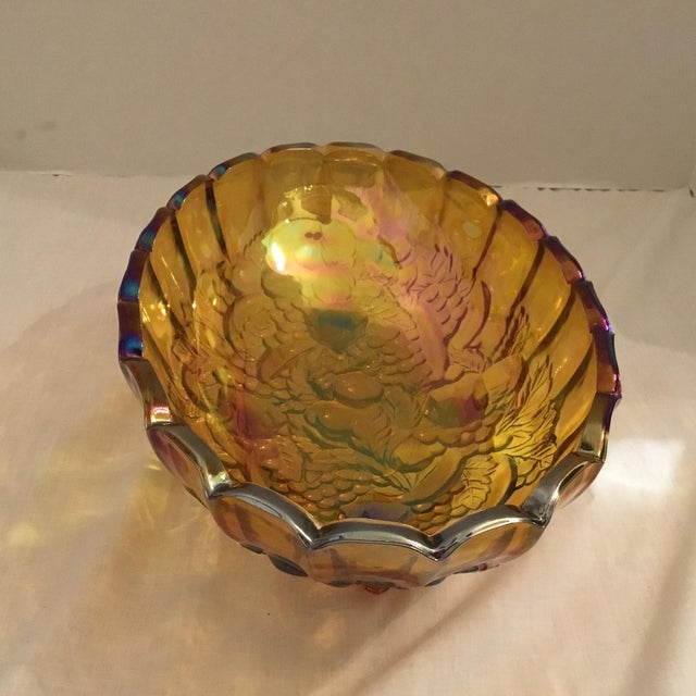 Carnival Glass Serving Bowl - Image 5 of 11