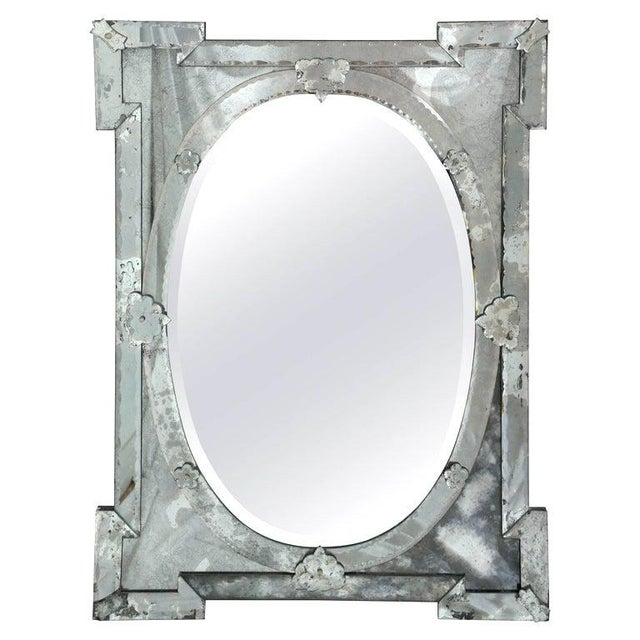 1940's Hollywood Regency Venetian Mirror With Exquisite Shield Design For Sale - Image 11 of 11