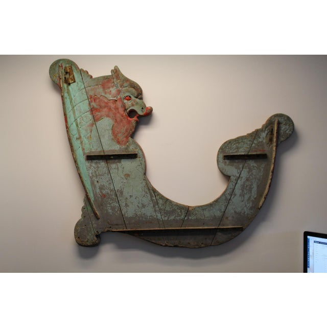 Painted Carved Wood Panel From Old Carousel - Image 5 of 7