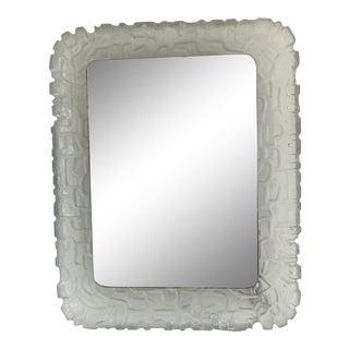 Vintage Rectangular Resin Illuminating Mirror For Sale